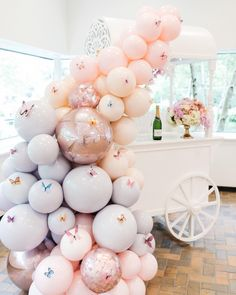 Don't you just love how balloons can just elevate your decor setup? We're looking for blush coloured balloons, please give us suggestions… Deco Baby Shower, Baby Girl Shower Themes, Girl Baby Shower Decorations, Birthday Party Decorations, Baby Shower Parties, Birthday Parties, Butterfly Party Decorations, Butterfly Balloons, Butterfly Birthday Party