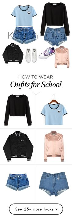 """@olirose"" by kiersten-mae on Polyvore featuring Yves Saint Laurent, Converse and Vans"