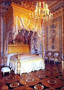 CATHERINE THE GREAT ~ The bedroom of Russian Empress Catherine The Great in Winter Palace, St Petersburg