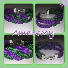 bracciale#bracelet#nodo#cordino#viola#purple#verde#jewels#bijoux