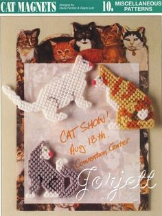 Free Plastic Canvas Magnet Patterns   THIS ITEM IS CRAFT PATTERN(S) ~ WRITTEN INSTRUCTIONS TO MAKE IT ...