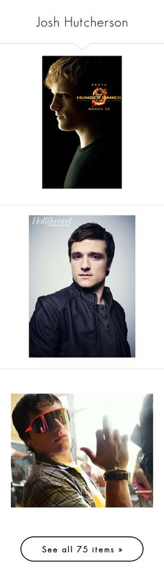 """""""Josh Hutcherson"""" by mailu-italiano ❤ liked on Polyvore featuring hunger games, josh hutcherson, pictures, people, jennifer lawrence, celebs, men, the hunger games, thg and boys"""