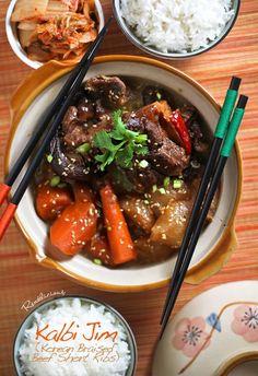 Kalbi Jim (Korean Braised Beef Short Ribs)   by Websushidesign