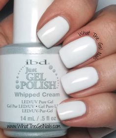 The BEST gel nails site out there. Lots of tips and color reviews! IBD Whipped Cream plus more Christmas gel nail colors.
