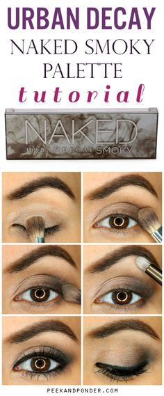 Urban Decay Naked Smoky Palette Tutorial Awesome and easy smoky eye with the Urban Decay Naked Smoky palette! Eye Makeup Tips, Skin Makeup, Makeup Eyeshadow, Makeup Brushes, Makeup Ideas, Makeup Tutorials, Drugstore Makeup, Smoky Eyeshadow, Cosmetic Brushes