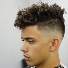 Curly Hairstyles For Men + High Fade