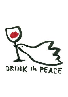 Drink in peace. Art Print by mypostersucks - X-Small Prosecco Van, Poppy Images, Sous Bock, Woman Wine, Wine Art, Poster Prints, Art Prints, In Vino Veritas, Wine Label