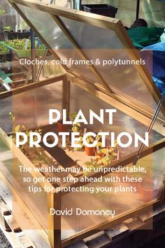 You can extend the life of your winter plants, especially herbs and vegetables, by covering them with protection. Cloches, cold frames and polytunnels are like mini unheated greenhouses that keep out the cold and wind and help retain heat around the plant. Hardy Plants, Winter Plants, Winter Garden, Cold Frames, Greenhouses, Get One, Garden Design, Garden Ideas, David