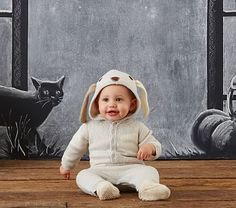 baby knit puppy costume