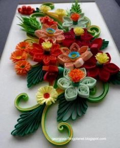 Paper Quilling Flowers Designs