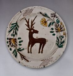 Hungarian plate from Zilah, Transylvania, 19th century. Private collection, Hungary.    Zilah is the seat of Sălaj County, Transylvania. According to the 1910 census it has a population of 8,062 of which 7,477 are Hungarian (19 Germans, 529 Romanians and 23 belonging to other ethnic groups).  After the 1920 Trianon Robbery it became part of Romania. Dictatorially, without a referendum. Ro-Mania denies the Hungarians fundamental human rights since then.