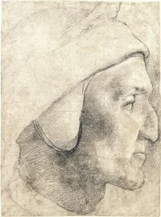 Agnolo Bronzino ~ Head of Dante ~ 1532 ~ Graphische Sammlung ~ Munich ~ black chalk, accidental traces of red chalk Figure Sketching, Figure Drawing, Dante Alighieri, Italian Paintings, Etching Prints, Renaissance Paintings, Drawing For Beginners, Life Drawing, Daily Drawing