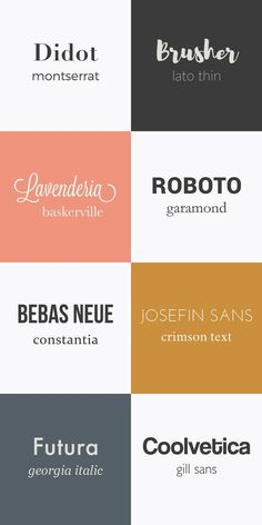 Font Combinations   ##fonts