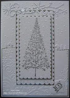 Woodland Christmas Tree Stamp