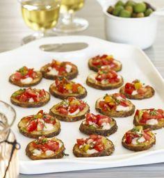 Party Fingerfood Rezepte warm-mini-bruschetti-kartoffel-grundlage