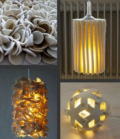 Felt lighting is a fantastic option using wool felt. Wool is a naturally fire retardant material. So the higher the wool content the more suitable it is for making lamp shades!