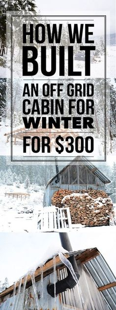How this young couple built an off grid cabin for their first winter on their homestead w $300 and a little ingenuity! | Tiny Homes