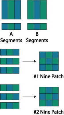 Easy Framed Nine Patch Quilt Pattern- could do with paper for cards and scrapbooking