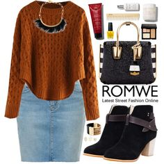 Romwe by oshint on Polyvore featuring moda, MCM, Isabel Marant, Michael Kors, Charlotte Russe, Bobbi Brown Cosmetics, OPI, women's clothing, women's fashion and women