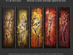 jazz art paintings | CONTEMPORARY JAZZ - Music Art, Jazz, Expressionism