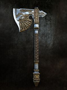 ArtStation - Viking Axe, I Kon viking warrior vikings champions norse winter is coming Swords And Daggers, Knives And Swords, Viking Axe, Viking Sword, Viking Warrior, Cool Swords, Battle Axe, Medieval Weapons, Norse Tattoo