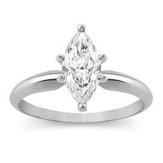 bb6b67d3f 1.00CT Marquise Diamond Engagement Ring 14K White Gold Marquise Ring,  Marquise Cut Diamond,