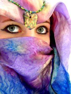 Veiled bride. Beautiful niqab.