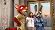 Meeting Nick and Judy from Disney's 'Zootopia' in Hollywood Land at Disney California Adventure Park