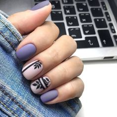 Top 50 photos of purple short nails to look cool Pastel nails Cute Acrylic Nails, Pastel Nails, Purple Nails, Cute Nails, Pretty Nails, Pink Nail, Peach Nails, Glitter Nails, Purple Nail Designs