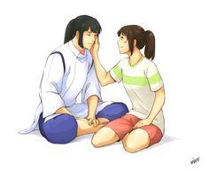 Older Haku and Chihiro