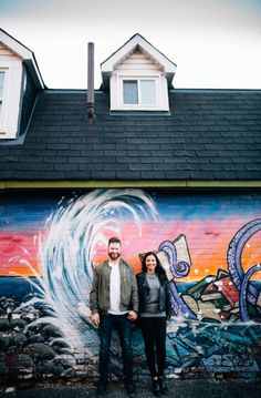 This graffiti filled session was destined for this modern couple. Explore More Golden Engagement Photos in the Glebe Fall Engagement, Engagement Session, Engagement Photos, Ottawa Valley, Old Apartments, Graffiti, Couple, Explore, Modern