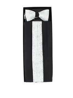 79% OFF Gitman Brothers Men's Paisley & Satin Cummerbund & Reversible Bow Tie Set
