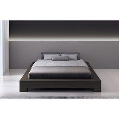 Winston Porter Sagamore Platform Bed | Wayfair Platform Bedroom, Queen Platform Bed, Upholstered Platform Bed, Platform Beds, Platform Bed Designs, Bedroom Design Inspiration, Bedroom Inspo, Leather Bed, Sleigh Beds