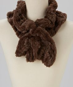 Take a look at this Brown Faux Fur Scarf by Shana-K on #zulily today!
