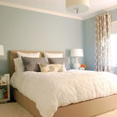 Benjamin Moore Beach Glass- can look gray in some light and more blue in other