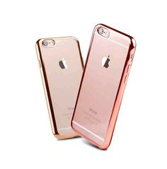 Gold and Rose Gold Chrome Framed Electroplating iPhone 7 Transparent Soft Cases Covers Iphone, Iphone 6 Cases, New Iphone, Cell Phone Cases, Apple Iphone, Samsung Galaxy Phones, Coque Iphone 6, Mobile Cases, Portable