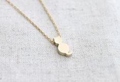 Cute gold Cat  Necklace -via Etsy.