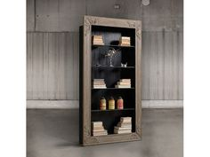 Bookcase Dimension HxWxD (cm) Description Bookcase made in oak wood with 4 glass shelves, inside black coloured. Glass Shelves, Contemporary Furniture, Bathroom Medicine Cabinet, Tall Cabinet Storage, Bookcase, Furniture Design, Sweet Home, Living Room, Wood