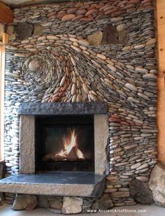 fireplace by Canadian stoneworkers Naomi Zettl & Andreas Kunert.