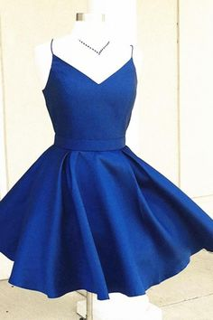 V Neck Short Blue/Burgundy Short Prom/Homecoming Dress