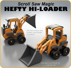 Scroll Saw Magic Hefty Hi-Loader Wood Toy Plan Set