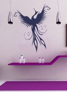 Housewares Vinyl Decal Phoenix Bird Home Wall Art Decor Removable Stylish Sticker Mural Unique Design for Room Decal House http://www.amazon.com/dp/B00EV2HZAG/ref=cm_sw_r_pi_dp_0dNUtb1K37GPJ6J7