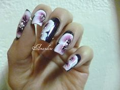 Amandine nail art one stroke sur masque lm cosmetic