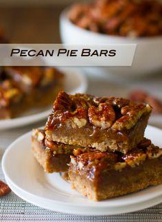 Baked Goods to Fall For--pecan pie bars, apple crumb bars, pumpkin pie bars