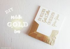 DIY | Metallic Gold Book Wrap | #gold #bookwrap #diy