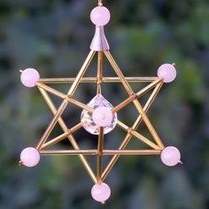 Rose Quartz - Love - Gem Star Merkaba Suncatcher / Pendulum by windyscreations on Etsy 7 Chakras, Bead Crafts, Diy And Crafts, Swarovski, Life Is A Gift, Humming Bird Feeders, Star Of David, Rear View Mirror, Diy Projects To Try