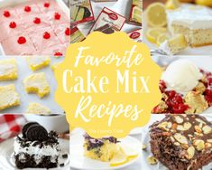 Favorite Cake Mix Recipes from The Country Cook