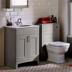 Noble Classic Extra Deep Vanity Unit with Worktop and Washbasin - UK Bathrooms Bathroom Basin Cabinet, Cloakroom Vanity Unit, Basin Vanity Unit, Vanity Units, Large Bathroom Furniture, Bathroom Interior, Built In Furniture, Furniture Making, Classic Furniture