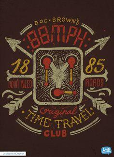 Doc Brown's time travel club t-shirt   Design by Azafran