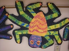 The Very Busy Spider - great Eric Carle project. Would love this for a library display